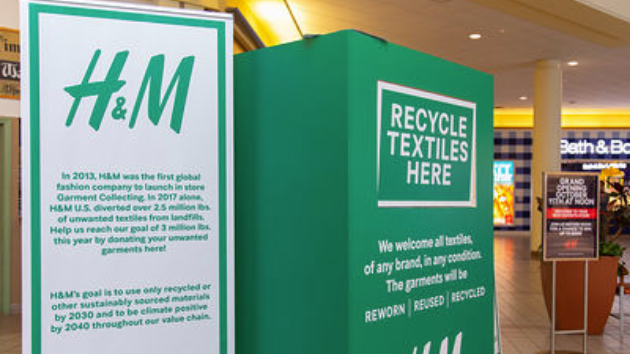 H&M recycle textiles